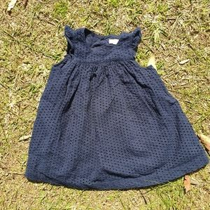 Country Road girls jacquard navy lined dress 1